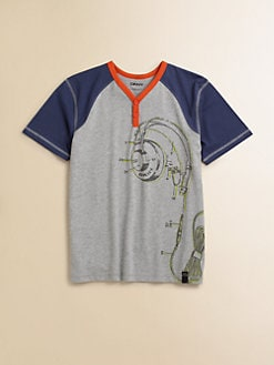 DKNY - Toddler's & Little Boy's Headphones Henley Tee