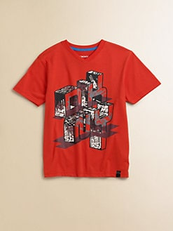 DKNY - Toddler's & Little Boy's Mural V-Neck Tee
