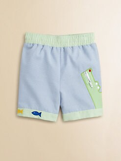 Florence Eiseman - Toddler's & Little Boy's Cord Alligator Swim Trunks