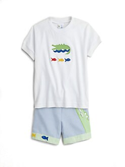 Florence Eiseman - Toddler's & Little Boy's Alligator & Fish Tee