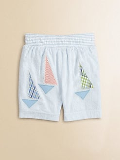 Florence Eiseman - Toddler's & Little Boy's Seersucker Sailboat Swim Trunks