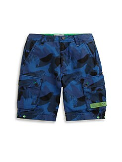 Diesel - Little Boy's Camo Cargo Shorts