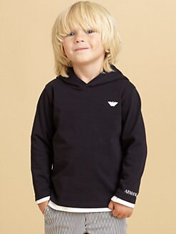 Armani Junior - Toddler's & Little Boy's Logo Hoodie