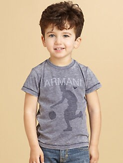 Armani Junior - Toddler's & Little Boy's Basketball Logo Tee