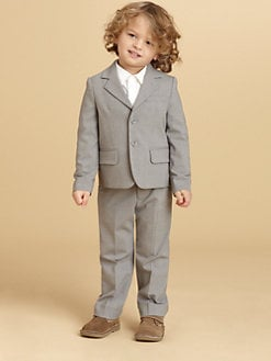 Armani Junior - Toddler's & Little Boy's Two-Piece Stretch  Wool Suit