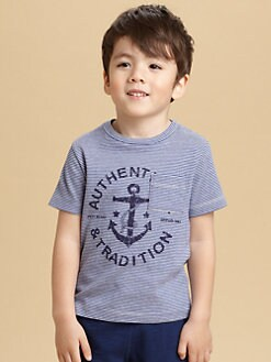 Petit Bateau - Toddler's & Little Boy's Striped Anchor Tee