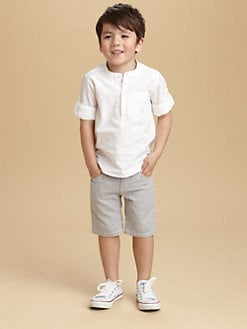 Petit Bateau - Toddler's & Little Boy's Placket Shirt