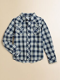 Diesel - Little Boy's Plaid Shirt