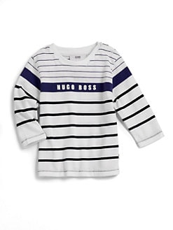 Hugo Boss - Toddler's Striped Logo Tee