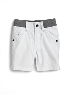 Hugo Boss - Toddler's Knit-Waist Poplin Shorts