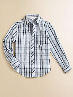 Hugo Boss - Little Boy's Plaid Poplin Shirt