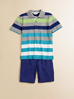 Hugo Boss - Little Boy's Striped Jersey Polo