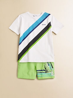 Hugo Boss - Little Boy's Diagonal Striped Tee