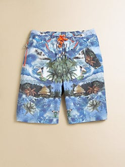 Stella McCartney Kids - Toddler's & Little Boy's Tropical Swim Trunks
