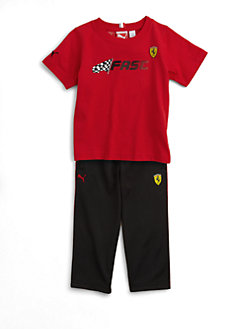 PUMA Ferrari - Toddler's & Little Boy's Tee and Pants Set