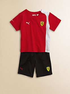 PUMA Ferrari - Toddler's & Little Boy's Tee and Shorts Set