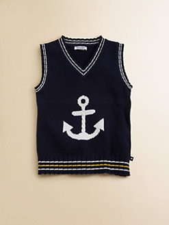 Hartstrings - Toddler's & Little Boy's Anchor Sweater Vest