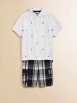 Hartstrings - Toddler's & Little Boy's Anchor Polo