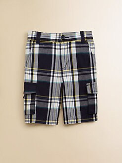 Hartstrings - Toddler's & Little Boy's Plaid Cargo Shorts