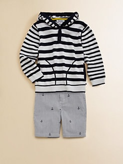 Hartstrings - Toddler's & Little Boy's Striped Pullover Hoodie