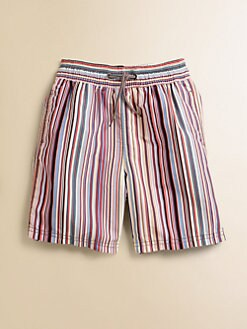 Paul Smith - Toddler's & Little Boy's Signature Striped Swim Trunks