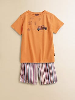 Paul Smith - Toddler's & Little Boy's Camping Motif T-Shirt