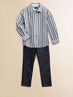 Paul Smith - Toddler's & Little Boy's Tonal Striped Shirt