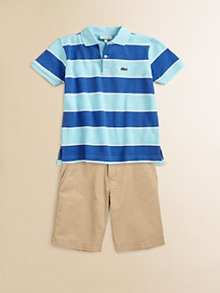 Lacoste - Toddler's & Little Boy's Striped Pique Polo Shirt