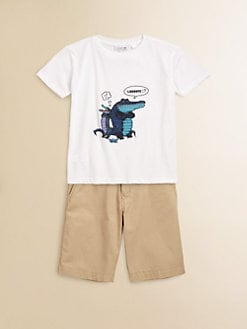 Lacoste - Toddler's & Little Boy's Comic Crocs Tee
