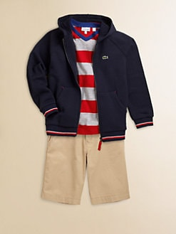 Lacoste - Toddler's & Little Boy's Tipped Hoodie