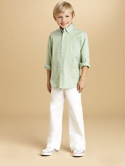 Oscar de la Renta - Toddler's & Little Boy's Tattersall Check Shirt