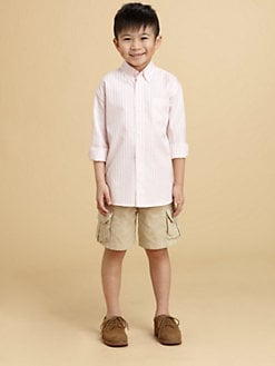 Oscar de la Renta - Toddler's & Little Boy's Ribbon Stripe Shirt