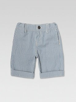 Gucci - Little Boy's Striped Cotton Bermuda Shorts