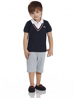Gucci - Little Boy's Oltremare Layered-Look Pique Shirt