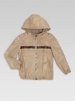 Gucci - Little Boy's Leather Hooded Jacket