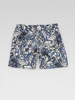 Gucci - Little Boy's Surfer Floral Swim Trunks