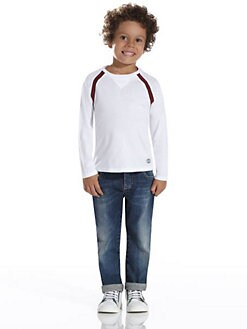 Gucci - Little Boy's Signature Web Long Sleeved Tee