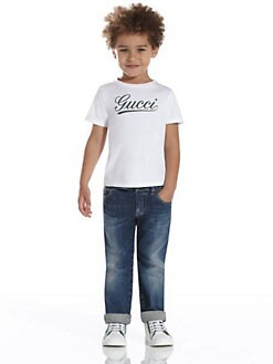 Gucci - Little Boy's Gucci Script Tee
