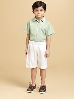 Oscar de la Renta - Toddler's Short-Sleeve Tattersall Shirt