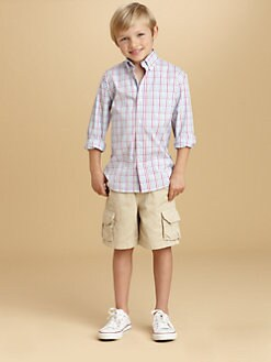 Oscar de la Renta - Toddler's & Little Boy's Pastel Plaid Shirt