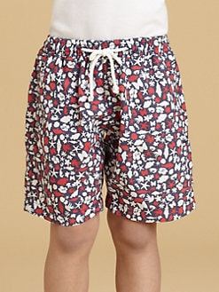 Oscar de la Renta - Toddler's & Little Boy's Seashore Print Swim Trunks