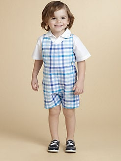 Oscar de la Renta - Toddler's Shortall and Shirt Set