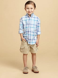 Oscar de la Renta - Toddler's & Little Boy's Linen-Blend Check Shirt