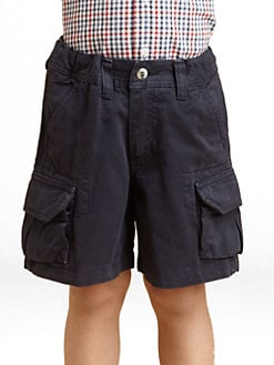 Oscar de la Renta - Toddler's & Little Boy's Twill Cargo Shorts/Navy