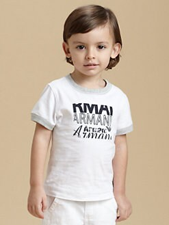 Armani Junior - Toddler's & Little Boy's Logo Tee