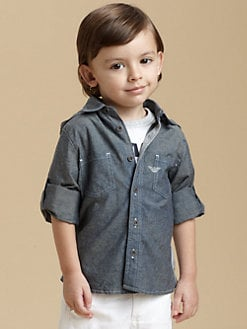 Armani Junior - Toddler's & Little Boy's Hooded Denim Shirt