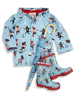 Hatley - Toddler's & Little Boy's Pirate Dogs Raincoat