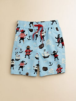 Hatley - Toddler's & Little Boy's Pirate Dogs Swim Trunks