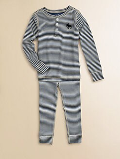 Hatley - Toddler's & Little Boy's Striped Moose Pajama Set
