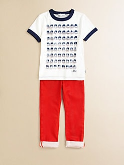 Little Marc Jacobs - Toddler's & Little Boy's Ringer Tee